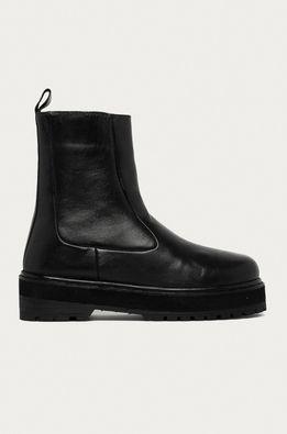 Answear Lab - Kožené členkové topánky