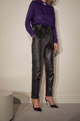 Answear.LAB limitovaná kolekce - Kožené kalhoty