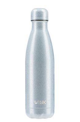 Wink Bottle - Termo láhev GLITTER SILVER