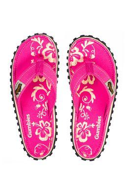 Gumbies - Вьетнамки Islander Pink Hibiscu