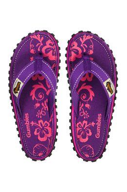 Gumbies - Flip-flop Islander Purple Hibiscu