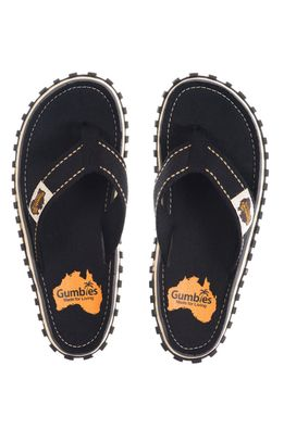 Gumbies - Flip-flop Islander Black