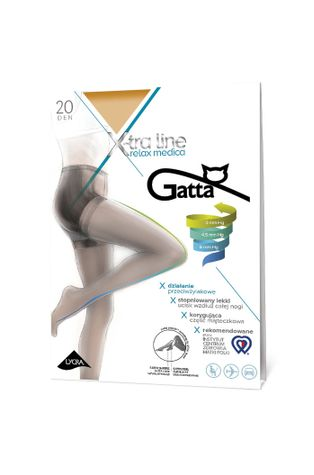 Gatta - Pančuchové nohavice X-tra Line Relax Medica 20 DEN