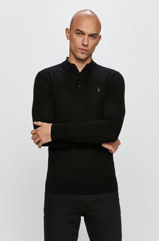 AllSaints - Tričko s dlouhým rukávem Mode Merino LS Polo