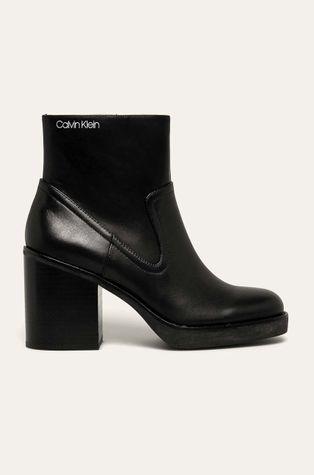 Calvin Klein - Botki skórzane