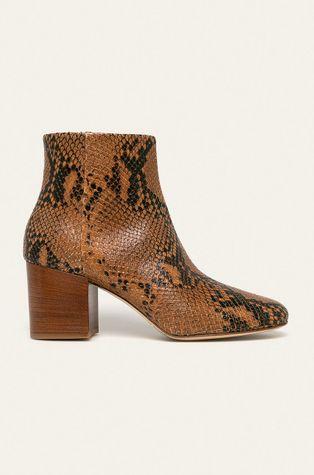 Twinset - Kožené členkové topánky