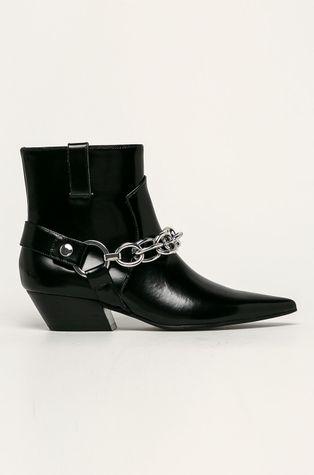 Calvin Klein - Kožené kovbojské topánky