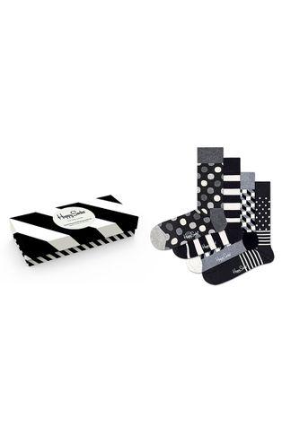 Happy Socks - Κάλτσες Classic Black & White (4-pack)