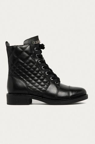 Guess Jeans - Kožené kotníkové boty