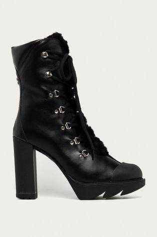Love Moschino - Kožené kotníkové boty