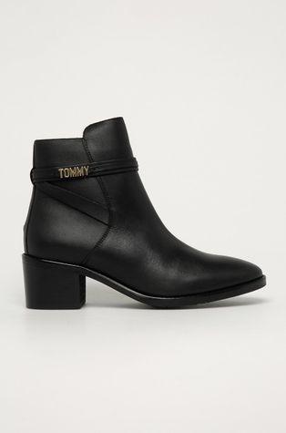 Tommy Hilfiger - Kožené kotníkové boty