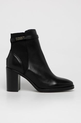 Tommy Hilfiger - Kožené členkové topánky