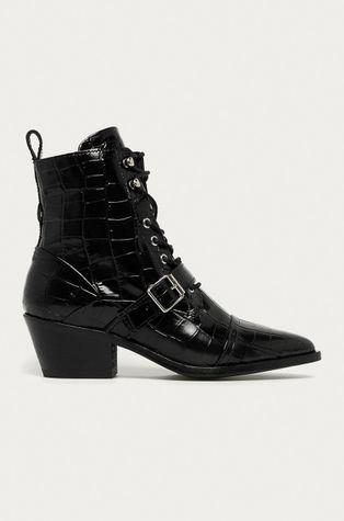 AllSaints - Kožené kotníkové boty Katy Croco