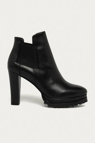 AllSaints - Kožené členkové topánky Sarris
