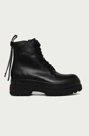 Red Valentino - Kožené kotníkové boty