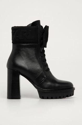 Karl Lagerfeld - Kožené kotníkové boty