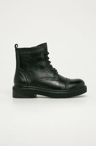 Big Star - Kožené kotníkové boty