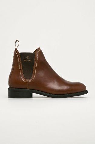 Gant - Kožené kotníkové boty Ainsley