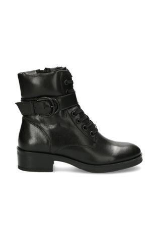 Mexx - Kožené kotníkové boty Booties Daley