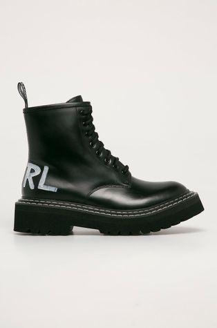 Karl Lagerfeld - Кожаные полусапоги