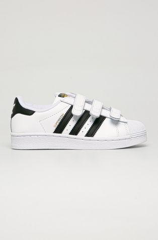 adidas Originals - Buty skórzane dziecięce Superstar