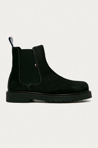 Tommy Jeans - Semišové topánky Chelsea