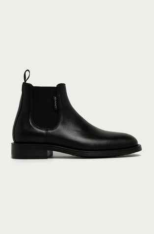 Gant - Kožené kotníkové boty Brockwill