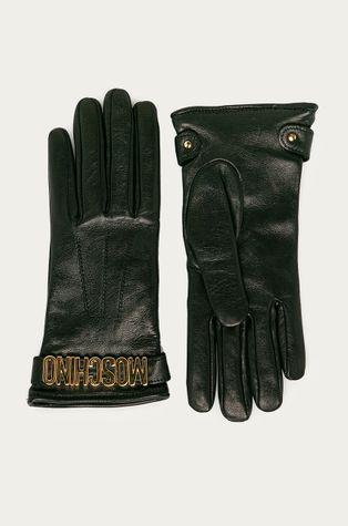 Moschino - Rękawiczki skórzane