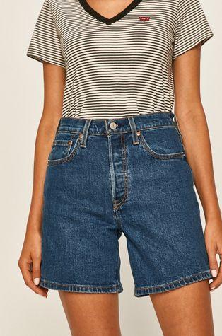 Levi's - Rifľové krátke nohavice 501