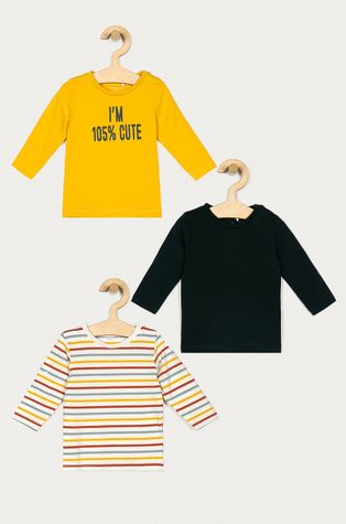 Name it - Dětské tričko s dlouhým rukávem 56-86 cm (3-pack)
