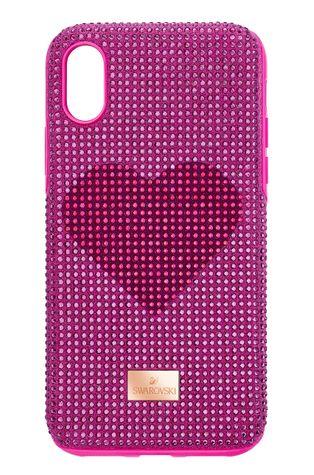 Swarovski - Кейс за телефон iPhone X/XS Crystalgram Heart