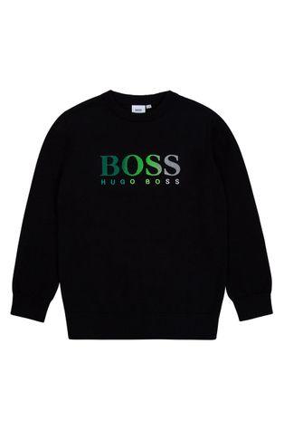 Boss - Bluza bawełniana dziecięca