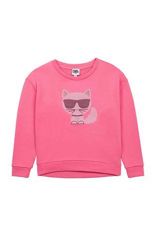 Karl Lagerfeld - Παιδική βαμβακερή μπλούζα