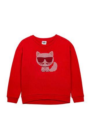 Karl Lagerfeld - Hanorac de bumbac pentru copii