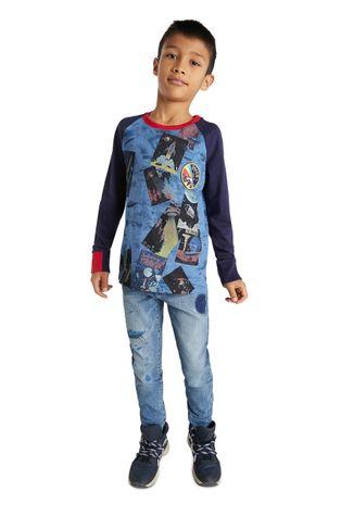 Desigual - Detské tričko s dlhým rukávom