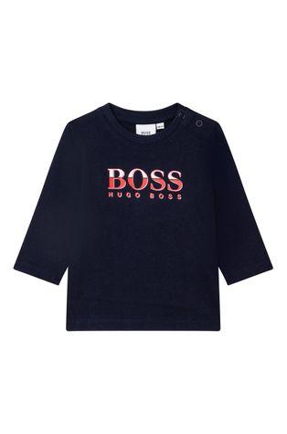 Boss - Детска блуза с дълги ръкави