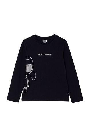 Karl Lagerfeld - Detská bavlnená košeľa s dlhým rukávom