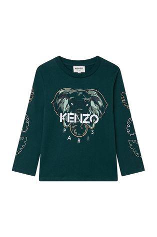 KENZO KIDS - Longsleeve bawełniany dziecięcy