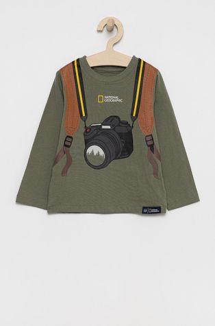 GAP - Dětská bavlněná košile s dlouhým rukávem x National Geographic