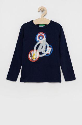 United Colors of Benetton - Detská bavlnená košeľa s dlhým rukávom x Marvel