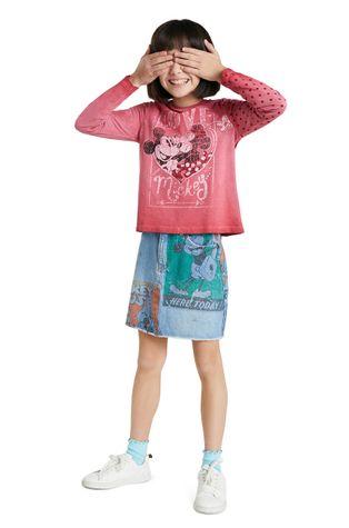 Desigual - Пαιδικό βαμβακερό μανίκι x Disney