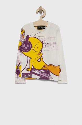 Desigual - Detská bavlnená košeľa s dlhým rukávom x Looney Tunes