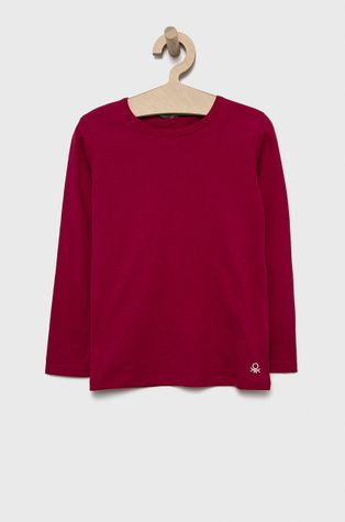 United Colors of Benetton - Detská bavlnená košeľa s dlhým rukávom