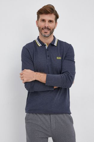 Boss - Βαμβακερό πουκάμισο με μακριά μανίκια Boss Athleisure