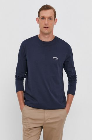 Boss - Bavlněné tričko s dlouhým rukávem