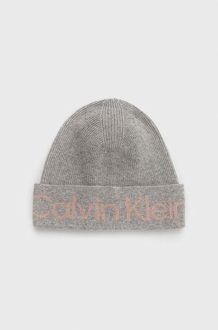 Calvin Klein - Czapka z domieszką kaszmiru