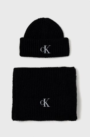 Calvin Klein Jeans - Шапка и шал с вълна