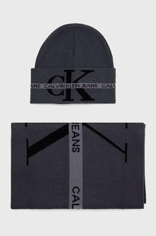 Calvin Klein Jeans - Памучни шапка и шал