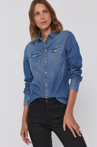 Pepe Jeans - Bavlněná džínová košile Rhonda
