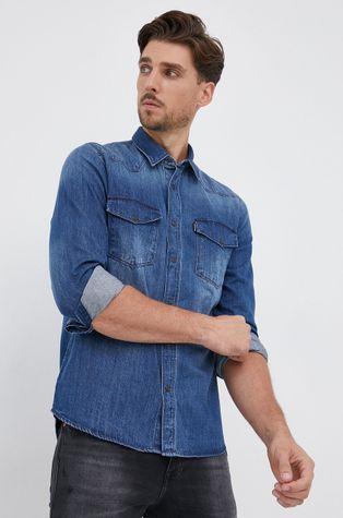 Hugo - Koszula bawełniana jeansowa